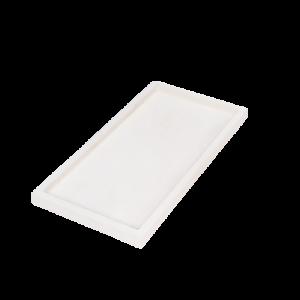 מגש בטון מלבני לבן